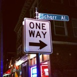 Schorr Alley is a One-Way